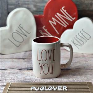 """🆕 RAE DUNN Valentine ❤️ mug """"LOVE YOU"""""""